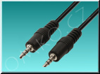 Propojovací audio kabel Valueline VLAP22000B50, 2x jack M 3.5mm, 5m