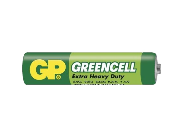 Baterie GP Greencell 1.5V AAA (R03) - foto 1