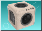 PowerCube AudioCube Portable Wood
