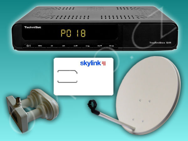 HD satelitní komplet Technibox SIR - 1 TV, ICE Skylink Standard - foto 1
