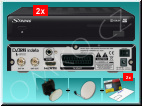 HD satelitn� komplet Strong SRT 7504 + karta Skylink Standard HD M7, 2 TV