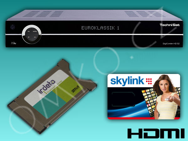 TechniSat DigiCorder HD S2X PLUS 160GB + modul Mascom + ICE Skylink Standard - foto 1