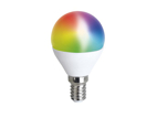 LED Smart žárovka Solight WZ432 miniglobe, 5W, E14, 400lm, RGB, WiFi