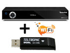 TechniSat Digit ISIO S2 + USB WiFi adaptér TELTRONIC Dual