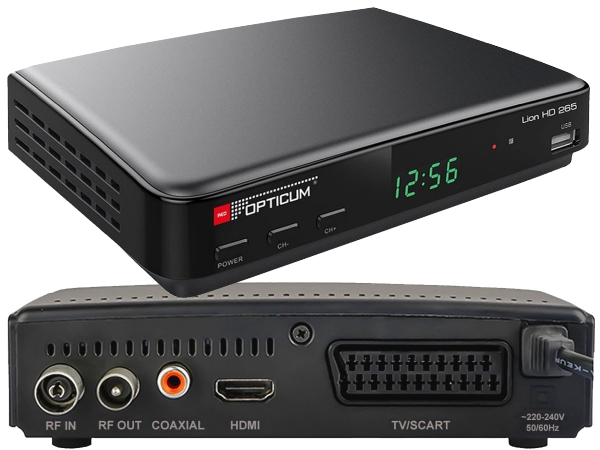 Opticum Lion HD 265 Plus, PVR, DVB-T2 - foto 1