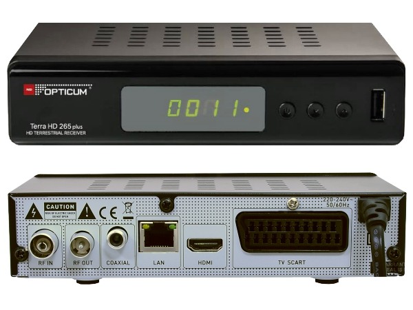 Opticum Terra HD 265 Plus, DVB-T2 - foto 1