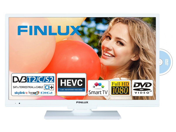 Finlux 22FWDC5161, 57 cm, Full HD, Smart TV, DVD/CD, bílý, rozbaleno - foto 1