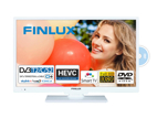Finlux 22FWDF5161, 57 cm, Full HD, Smart TV, DVD/CD, bílý
