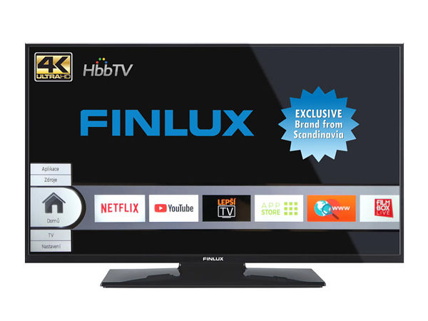 Finlux 40FUD7060, 101 cm, Ultra HD, Direct LED, Smart TV, černý - foto 1