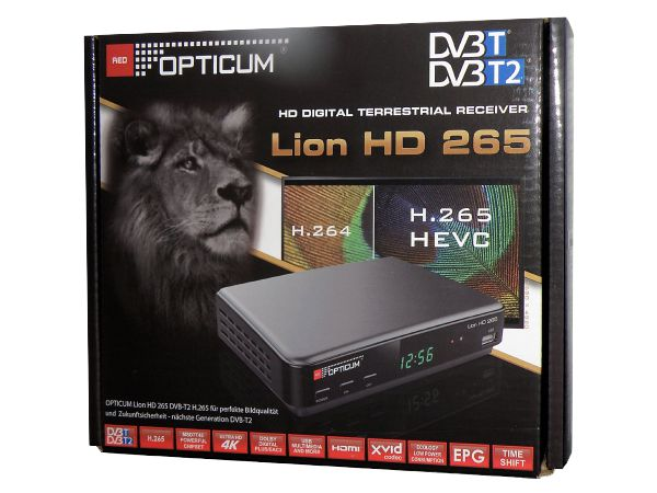 Opticum Lion HD 265 Plus, PVR, DVB-T2 - foto 3