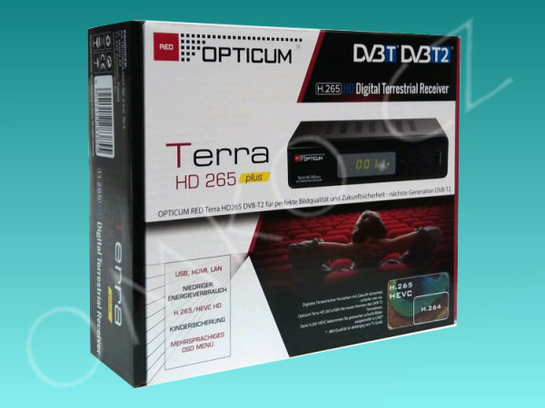 Opticum Terra HD 265 Plus, DVB-T2, rozbaleno - foto 4