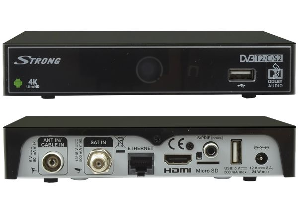 Strong SRT 2401, DVB-S2/DVB-T2/DVB-C, Android, Wi-Fi, 4K Ultra HD - foto 2
