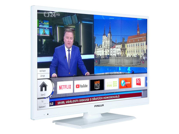 Finlux 22FWDC5161, 57 cm, Full HD, Smart TV, DVD/CD, bílý, rozbaleno - foto 2