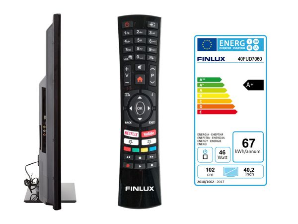 Finlux 40FUD7060, 101 cm, Ultra HD, Direct LED, Smart TV, černý - foto 3