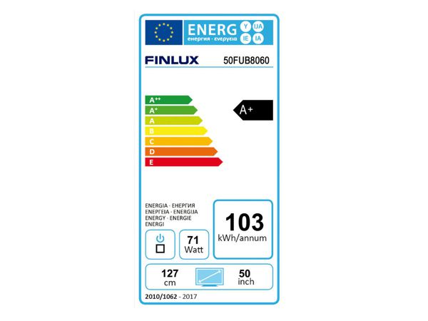 Finlux 50FUB8060, 128 cm, Ultra HD, Direct LED, Smart TV, černý - foto 4