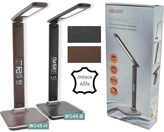 LED stolní lampy Solight WO-45 imitace kůže