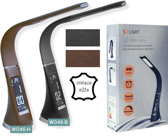 LED stolní lampy Solight WO-46 imitace kůže
