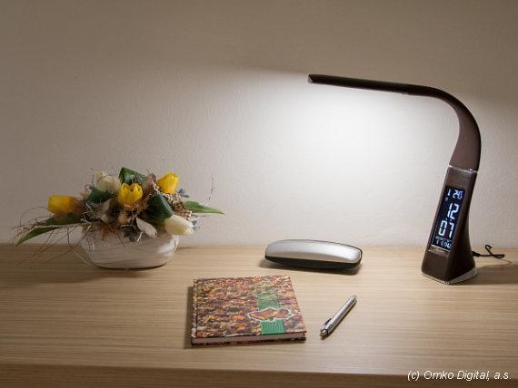 LED stolní lampy Solight WO-46 imitace kůže interiér