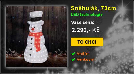 Sněhulák, 73cm, LED vánoční dekorace