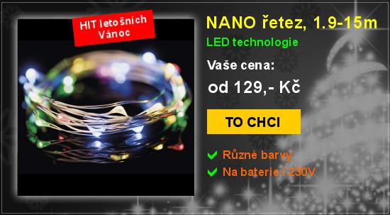 NANO světelný řetez, 1.9-15m, LED vánoční osvětlení