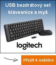 Bezdrátový set USB klávesnie a myš