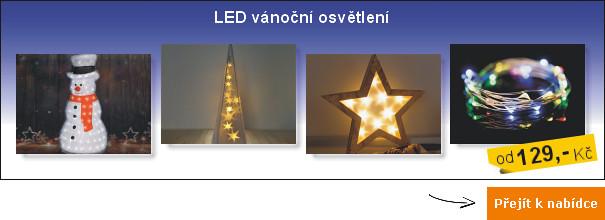 Vánoční LED osvětlení - vnitřní i venkovní