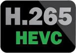 logo H.265/HEVC kodek