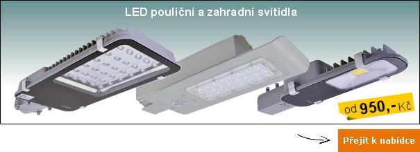 LED pouliční a zahradní osvětlení