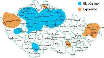 Mapa pokrytí DAB rádio